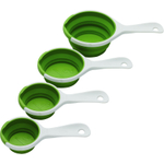 Chef'n Sleekstor Collapsible Pinch and Pour Measuring Cup Set in Arugula