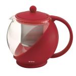 Bonjour Red 24 Ounce Gourmet Glass Teapot