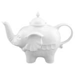BIA Cordon Bleu White Porcelain Elephant Teapot, 28 Ounce