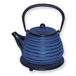 Japanese Tetsubin Cast Iron Blue Beehive Teapot