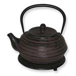 Japanese Tetsubin Cast Iron Brown Lantern Teapot
