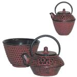 Japanese Tea for One Red Mini Teapot