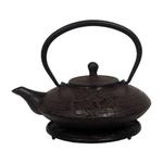 Japanese Tetsubin Redbrn Metallic Leaf Teapot 20oz