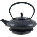 Japanese Tetsubin Black Metallic Teapot 20oz Trivet