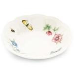 Lenox Butterfly Meadow White Porcelain Fruit Bowl, 6.5 Inch