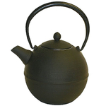 Japanese Tetsubin Cast Iron Black Teapot w/ Infuser