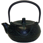 Green & Black Traditional Japanese Tetsubin Teapot