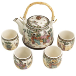 Four Beauties 5 piece Ceramic Tea Set