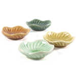 Small Crackled Glass Asian Japanese Sauce Dishes Bowls