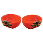 Home Gourmet Collection Ceramic Red Tomato Vegetable Dipping Bowls, Set of 2