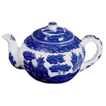 Asian Blue Willow Fable Teapot, 32 Ounce