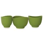 iSi Wasabi Green Silicone Mixing Bowl, Set of 3