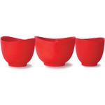 iSi Red Silicone Mixing Bowl, Set of 3