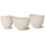 iSi White Silicone Mixing Bowl, Set of 3
