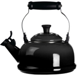 Le Creuset Black Onyx Enamel On Steel 1.75 Quart Whistling Tea Kettle