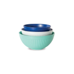 Nordic Ware Coastal Blue Microwave 3 Piece Prep and Serve Bowl Set