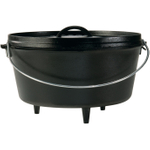 Lodge Logic Cast Iron Camp Dutch Oven, 8 Quart