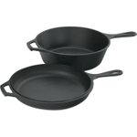 Lodge Logic Cast Iron Combo Cooker Dutch Oven and Griddle, 3 Quart