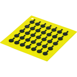 Lodge Yellow Silicone Black Skillet Patterned Trivet