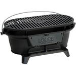 Lodge Logic Pre-Seasoned Cast Iron Sportsman's Charcoal Grill