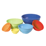 Oggi 6 Piece Assorted Color Nested Mixing Bowl Set