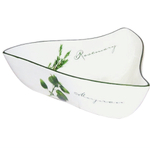 Large Ceramic Triangular Serving Bowl Herb Design