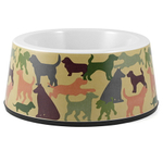 Anchor Hocking Olive Green Melamine 3.5 Cup Dog Bowl