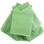 Lime Green Microfiber 5 Piece Kitchen Towel Set