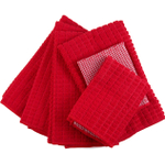 Red Microfiber 6 Piece Kitchen Towel Set