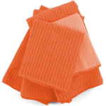 Orange Microfiber 5 Piece Kitchen Towel Set