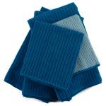 Blue Microfiber 5 Piece Kitchen Towel Set