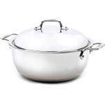All-Clad Copper-Core 18/10 Stainless Steel Dutch Oven with Lid, 5.5 Quart