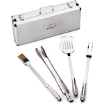 All-Clad 18/10 Stainless Steel 5 Piece Barbecue Tool Set in Carrying Case