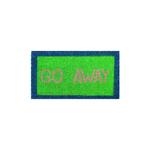 """Entryways Green """"Go Away"""" Hand Woven Coir Sarcastic Doormat"""