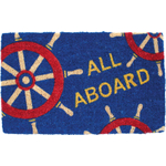 Entryways All Aboard Hand Woven Coir Nautical Theme Doormat