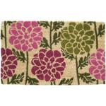 Entryways Dahlias Hand Woven Coir Floral Theme Doormat