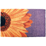 One Sunflower Mid-Thickness Hand Woven Coir Doormat, 18 x 30 Inch