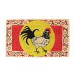 Rooster Coir Mid-Thickness Hand Woven Coir Doormat, 18 x 30 Inch