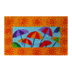 Sunny Umbrellas Mid-Thickness Hand Woven Coir Doormat, 18 x 30 Inch