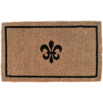 Entryways Fleur De Lis Hand Woven Coir Doormat