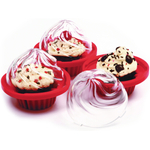 Norpro Bake and Store Red Silicone Cupcake Holder