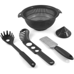 MyPlace Black 5 Piece Pasta Pack Prep Set