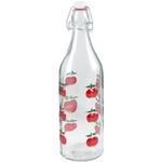 Glass Apple Beverage Bottle, 3.5 Inch