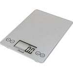 Escali Arti Shiny Silver Glass Digital Kitchen Scale, 15 Pound