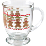 Anchor Hocking Holiday Gingerbread Men Cafe Mug, Set of 6