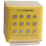 Three by Three Slim Mighties Magnets, Set of 12