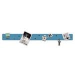 Three by Three Magnetic Strip Bulletin Board in Sky Blue