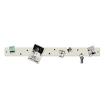 Three by Three Magnetic Strip Bulletin Board in White