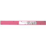 Three by Three Magnetic Strip Bulletin Board in Pink