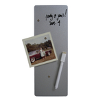 Three by Three 4x11 Dry-Erase Magnet Board in Silver